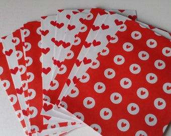 Set of 12 envelopes heart Valentine's day