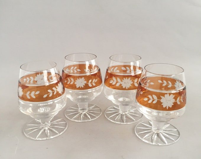 cut crystal sherry glasses x 4