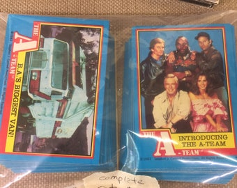 Complete set of A-Team Trading Cards 1983
