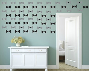 FREE SHIPPING Wall Decal Papillon Color Gray & Black. 60 Wall Decal. Nursery Decal. Vinyl Decal. Home Decor. Housewares.