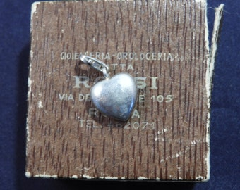 """Sterling silver heart charm - 925 - sterling silver - 1"""" - l"""
