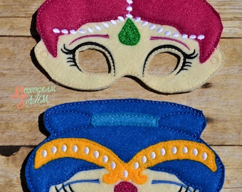 Genie Twin Mask set child/adult sizes available