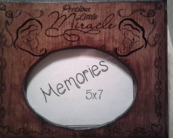 Baby Themed Handmade wooden picture frame