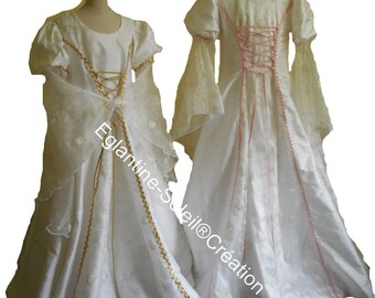 "Dress children ""Princess"". Silk"