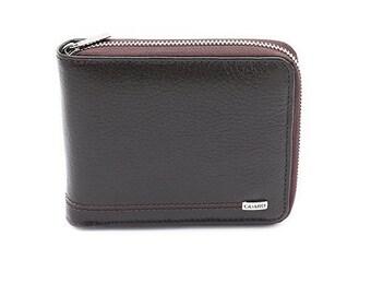 Zip Wallet - All Around Zip Wallet - Dark Brown