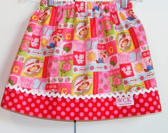 Berry Sweet Strawberry Shortcake skirt  (18 mos, 2T, 3T, 4T, 5, 6, 7)