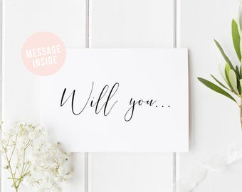 Will You Be My Bridesmaid? Maid Of Honor Card, Be My Bridesmaid Card, Be My Flower Girl Card, Secret Message Card, Matron Of Honour, Usher