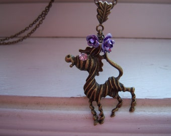 Zebra Necklace - Free Gift With Purchase