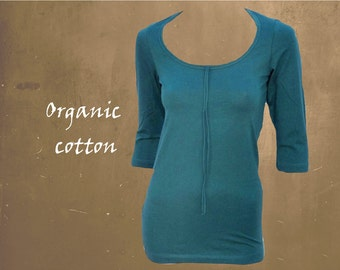 organic cotton basic shirt, T shirt biological cotton, GOTS certified cotton, sustainable clothing, fair trade clothing