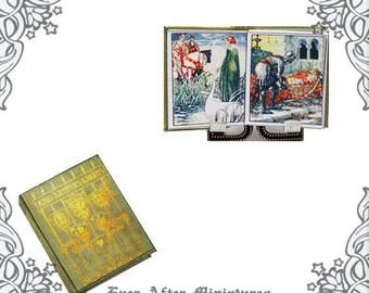 1:12 King ARTHUR'S KNIGHTS Dollhouse Miniature Book – Printable Walter Crane King Arthur Book Medieval Legend Knight Miniature Book DOWNLOAD