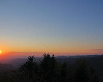 Photography, Photography Print, Landscape Print, nature print, Blue Ridge Sunset, Mt. Pisgah NC - 55001015