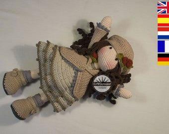 Crochet Pattern for Doll AVA, pdf   (Deutsch, English, Français, Nederlands, Español)