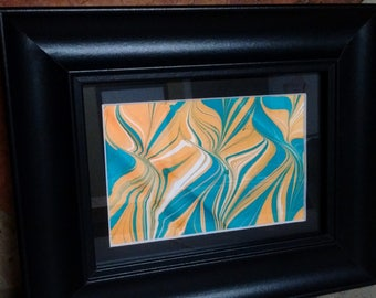 Marbled Print | Office Decor | Home Decor | One-of-a-kind | Traditional Technique | Vintage Style | Hotel Decor