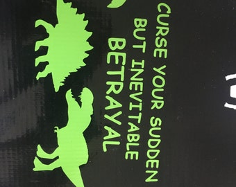 Curse Your Sudden But Inevitable Betrayal Firefly Serenity Decal Sticker Wall Laptop Car