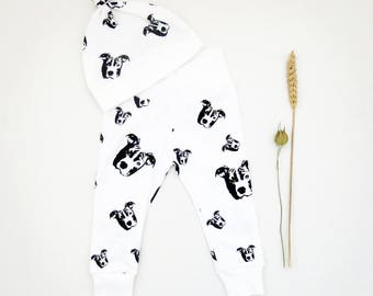 Pit Bull Baby Gifts, Organic Cotton Baby Hat And Leggings Set, Newborn Gift, Coming Home Outfit, Pit Bull Baby Leggings, Pit Bull Baby Hat