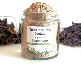 Chocolate Chip Cookie/Popcorn Seasoning/Gourmet Popcorn/Popcorn Bowl/Popcorn Items/Food Gift/Foodie Gift/Party Favors/Wedding Favors