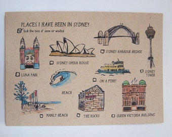 Places I have seen in Sydney Postcard