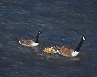 Title: Follow The Leader, Fine Art Oil Painting, One-of-a-Kind Wall Art