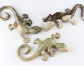 Carved crocodile wood lizard made to hang on your wall - Crocodile Wood Lizard - Wood lizard carving - Carved spirit animal - wood lizard