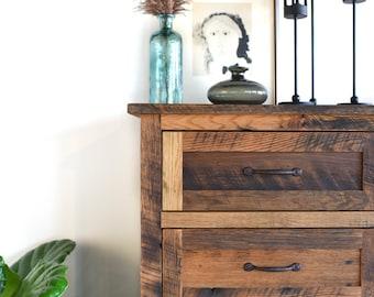 Reclaimed Wood Dresser / Tall 6 Drawer Dresser