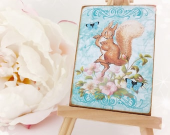 Squirel Nutkin...Beatrix Potter...Wooden Plaque...