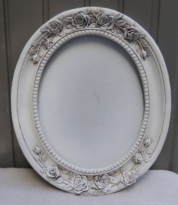 8x10 White Picture Frames, 8 x 10 Oval Frame, Ornate White Picture ...