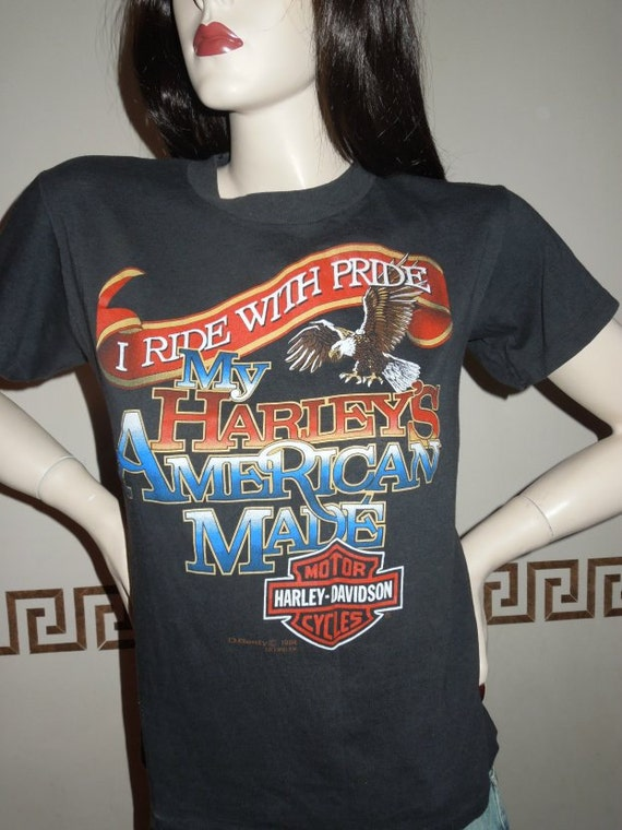 Vintage Harley Davidson T Shirt I Ride With Pride My Harleys