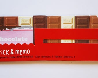 Chocolate Bar Sticky Note/Chocolate Lover Gift/Kawaii Sticky Note/Stationary/Page Marker/Office/School/Journal/Memo Pad/Sticky Note/Post it