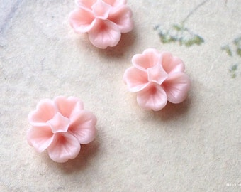 13 mm Light Light Pink Morning Glory Resin Flower (.ss)