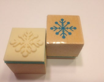 small snowflake rubber stamp, 20 mm (BB1/2)