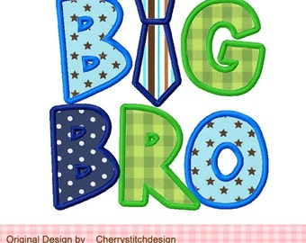 BIG BRO Machine Embroidery Applique Design - 4x4 5x5 6X6""