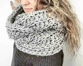 Oversized Infinity Scarf - Extra large scarf, long scarf, long chunky scarf, long infinity scarf, extra long scarf, blanket scarf