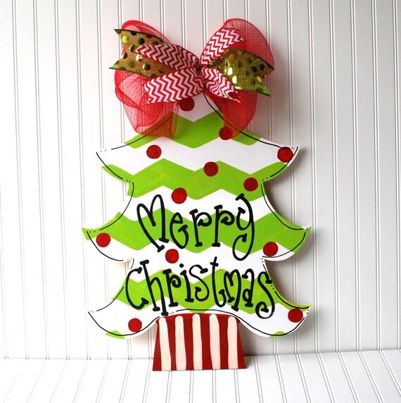 Christmas decor tree door hanger wreath