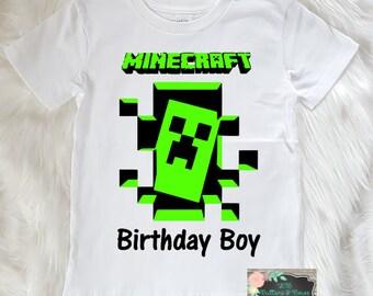 Minecraft Theme Birthday Shirt - Minecraft Birthday Shirt -Minecraft-Creeper Shirt- Creeper Birthday Shirt