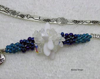 Beaded Bookmark with Grandmother Charm
