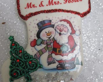 Our First Christmas personalized Christmas ornament