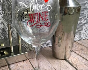 All You Need is Love Wine Glass - Customized Wine Glass