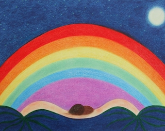 Rainbow Art Mother Daughter Gift Rainbow Picture Spiritual