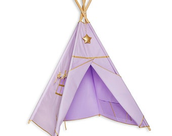 Teepee Tent - Gold Lilac