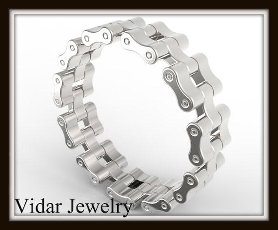 Unique Bike Chain Wedding BandCustom Wedding Ring From Vidar