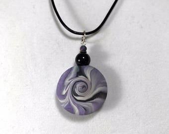 Karma Spiral Pendants - #227 Polymer Clay Pendant, Good Luck Charm, Good Karma, Handmade, One of kind, Unique Gift, Boho Jewelry
