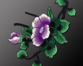 Sew on Flower Appliques, Embroidered Patches