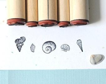 Shell Sampler Rubber Stamp Set