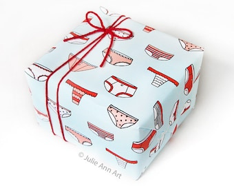 Gag Gift Wrap - Underwear Wrapping Paper