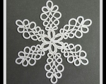 PATTERN, tatted snowflake, needle tatting, BELLA original pattern