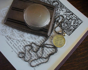 Book Nook, Book Quote Necklace, Charles Dickens Quote Necklace, Great Expectations, Literature Quote Necklace, Quote Necklace, MarjorieMae