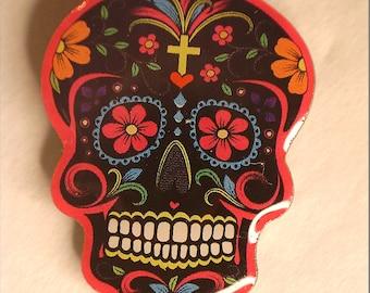 Sugar Skull Pin (Black)