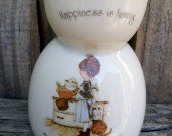 Vintage Holly Hobbie Egg Cup made in Japan.