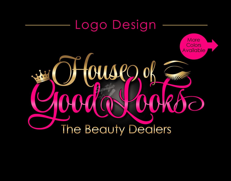 Custom Logo, Eyelash Salon Logo, Makeup Logo, Makeup ...
