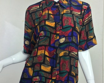 VTG 80's Guam Print Button Down-M-Very Rare mxieMm2